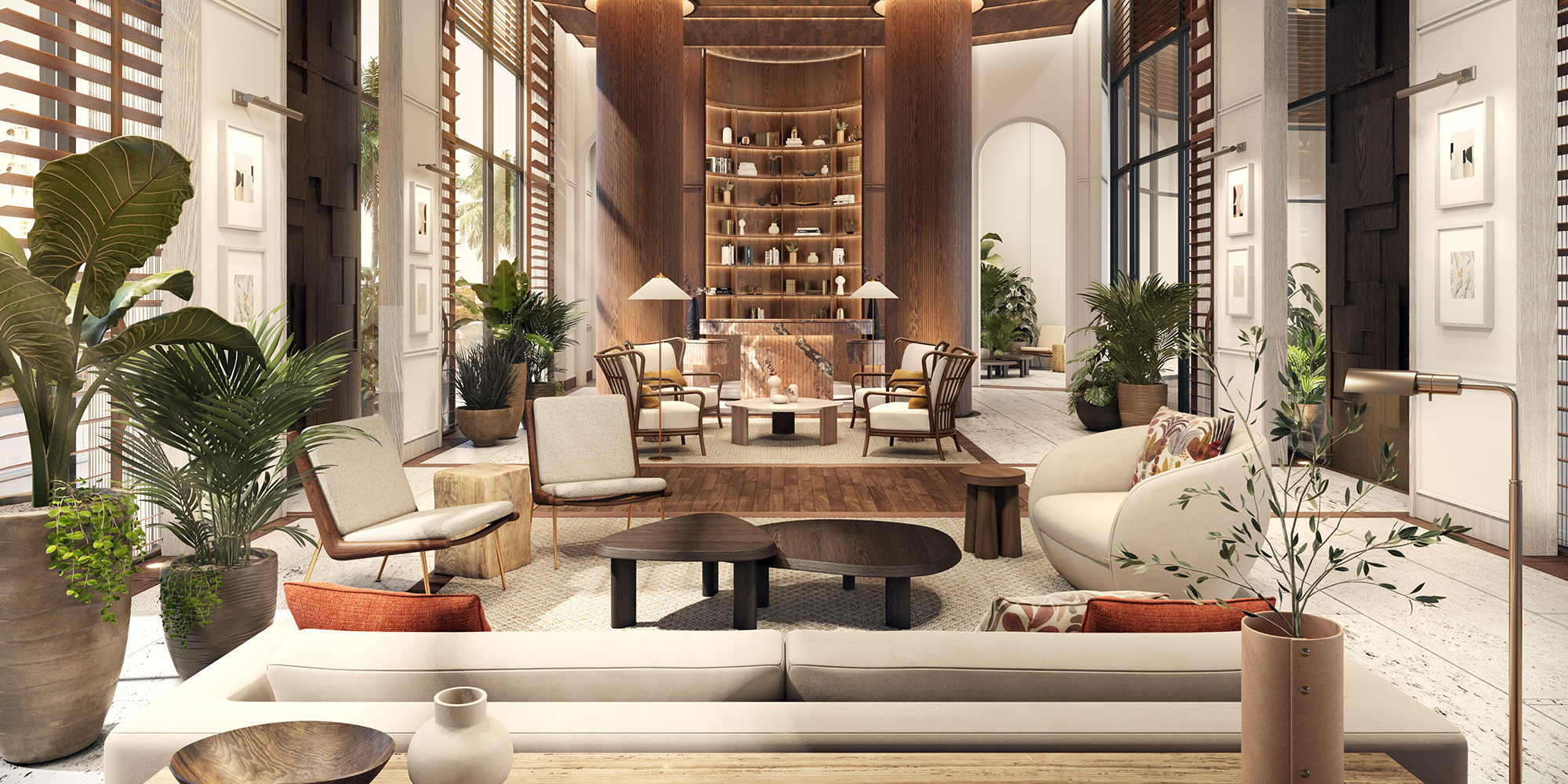 When California Modernism and coastal Florida intersect, Pendry Tampa Hotel & Residences shines as a comfortable retreat by the river.