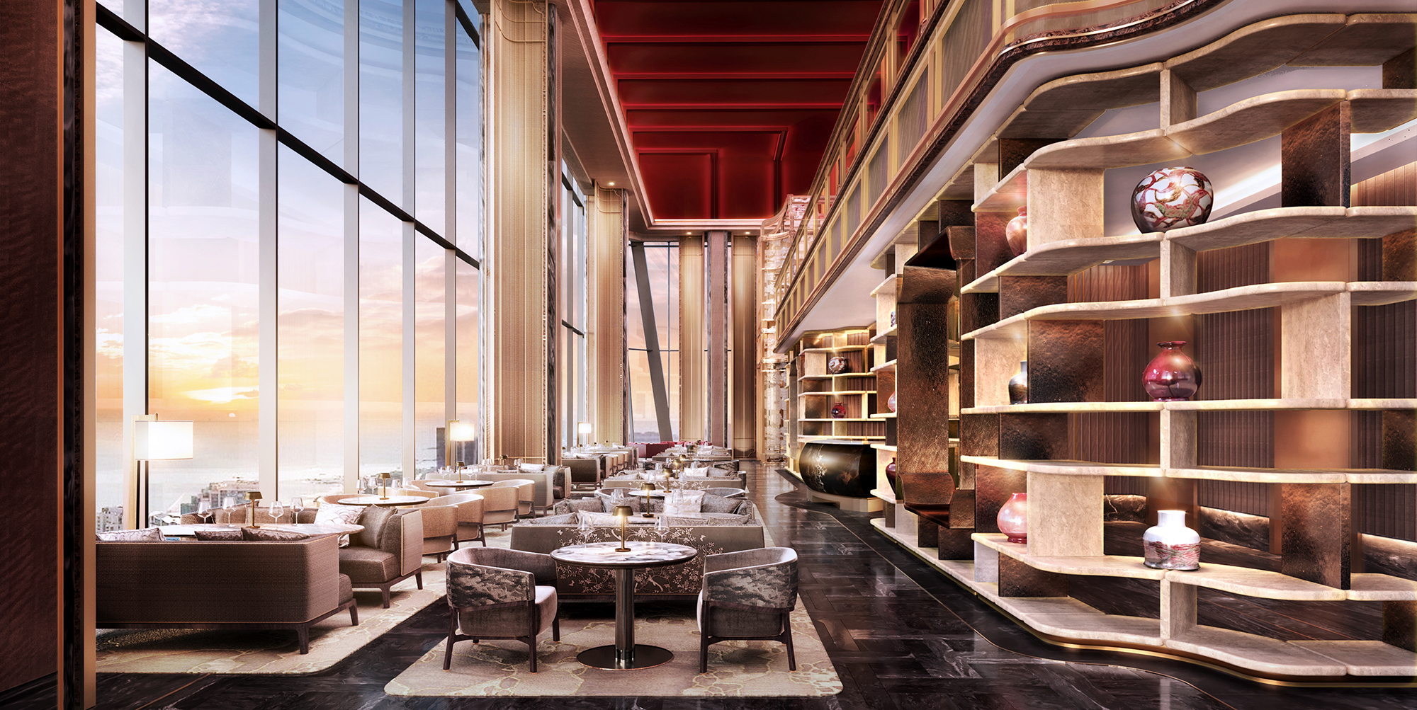 In the heart of coastal Qingdao, discover an exquisite five-star luxury hotel defined by the elevated expression of Chinese culture through emotive materiality and detailing.